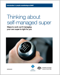 Thinking about a self managed super fund